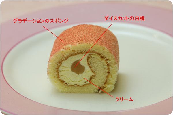 PSフリーカット彩ロールケーキ 白桃3