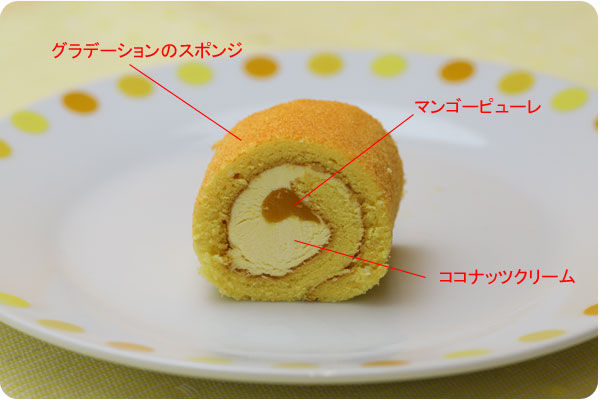 PSフリーカット彩ロールケーキ マンゴー3