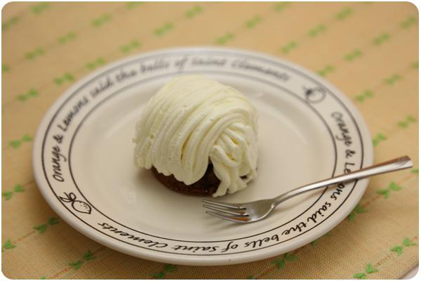 白いチョコモンブラン